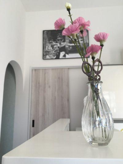 ピンクの造花
