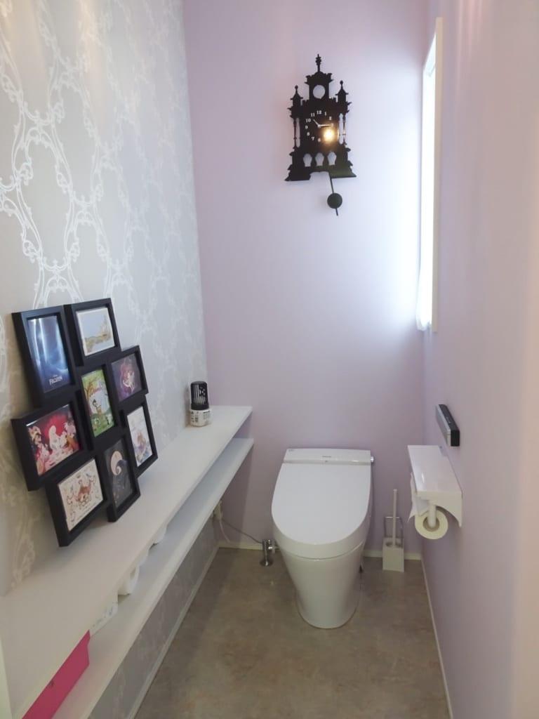 1階アクセントクロスまとめ リビングは人気のグレー トイレは大人可愛く 目指せフレンチシック オシャレな家づくり